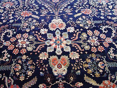 Authentic Antique Saroukk Farahann 1900 Hand-Knotted Wool Oriental Rug 9'x12'5""