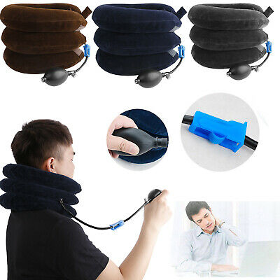 Air Inflatable Cervical Neck Traction Device Support Brace Pain Relief Therapy
