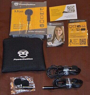 PowerDeWise Lavalier Lapel Microphone For YouTube / Podcast / iPhone / Chat Use