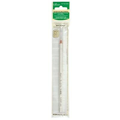 Clover White Water Soluble Pencil – Sewing Crafting Patchwork -  Cl5000