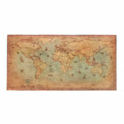 Nautical Ocean Sea World Maps Retro Arts Paper Painting Home Decors Wall Posters