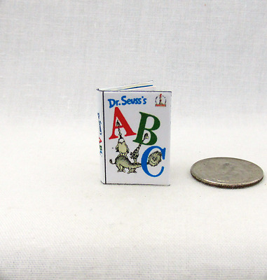 DR. SEUSS'S ABC Miniature Book Color Illustrated Dollhouse 1:12 Scale Readable