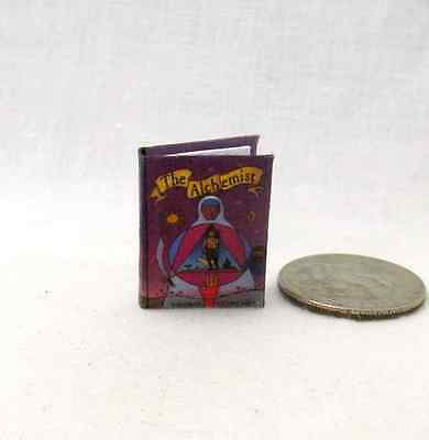 THE ALCHEMIST Miniature Book Dollhouse 1:12 Scale Readable Illustrated Book