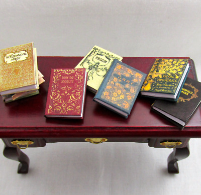 JANE AUSTEN Miniature Book Set 6 Readable Illustrated Dollhouse 1:12 Scale Books