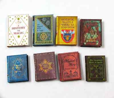 Dollhouse Miniature Wizard Reference Books (8) Readable Illustrated Potter Magic