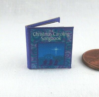 CHRISTMAS CAROLING SONGBOOK Dollhouse Miniature Book 1:12 Scale Illustrated Book