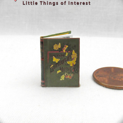 BUTTERFLIES AND MOTHS Illustrated Dollhouse Miniature Victorian Book 1:12 Scale