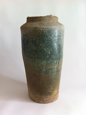 Han Dynasty Large Green Glazed Granary Urn