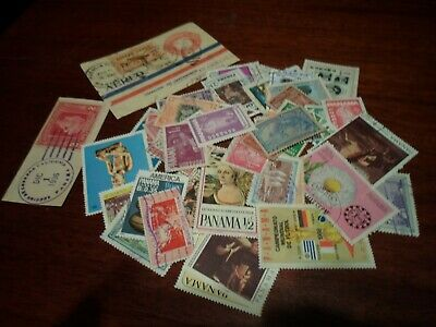 Collection lot 50 different stamps of Panama