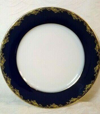 Vintage Classic Rose Collection Rosenthal Colbalt Blue w/ Gold Plate Germany EUC