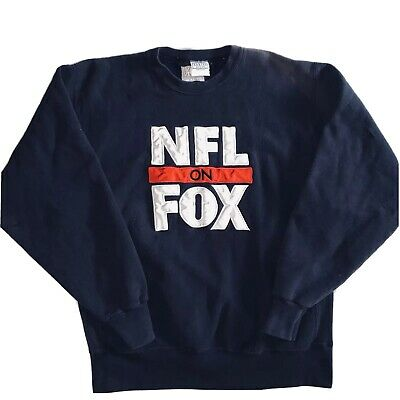 vintage crewneck sweatshirt Mens Xlarge Nfl On Fox Patch Embroidred Made In Usa