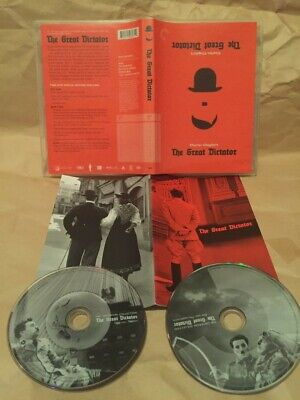 GREAT DICTATOR 2-DVD Criterion Collection charlie chaplin paulette goddard 1940