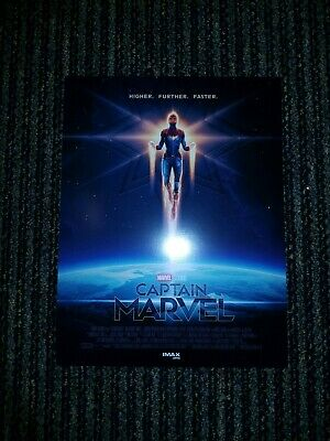 "Captain Marvel Amc Imax 8.5"" X 11"" Poster Marvel Studios - Brand New"