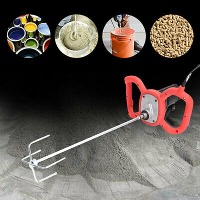 220V 6 Speed Electric Mixer Plaster Paint Cement Mortar Paddle Power Tools Kit