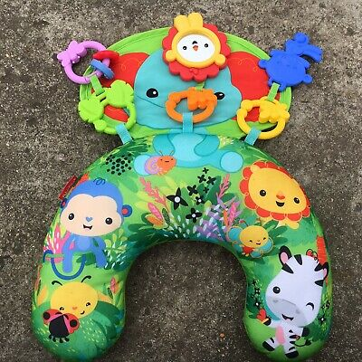 """FISHER PRICE """"Green"""" Beautiful Animals Baby's Activity Mat Babies Tactile Toy"""