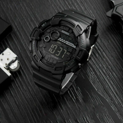 SKMEI Men's Military Black Digital Countdown Tactical Shock Resist Sport WatchUS