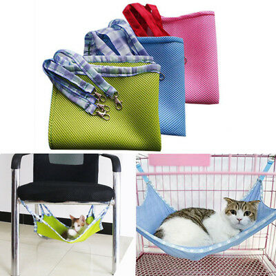 Cozy Pet Cat Net Mesh Bed Hammock Breathable Multifunction Cages Summer Cooling
