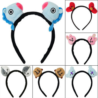 Kpop Bangtan Boys BT21 Headband Hair Band Hair Head Band Chimmy Tata Shooky Vann
