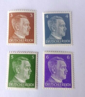 Rare Nazi Germany ww2 Hitler stamps, third reich, mint condition mnh set of 4