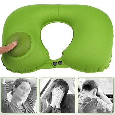 Foldable U-shaped Neck Support Pillow Inflatable Cushion Travel Fly Sleep Rest