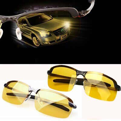 HD Night Driving Glasses Polarized Yellow Lens Anti Glare Vision Tinted Unisex G