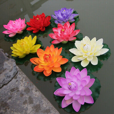 Fake Artificial Simulation Lotus Flower Water Lilies Plants Indoor