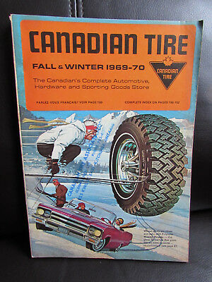 """RARE CANADIAN """"CANADIAN TIRE CORP. 1969-70 Fall & Winter CATALOGUE - Excellent"""