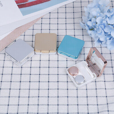 1X Mini Contact Lens Travel Case Pocket Size Storage Holder Soaking Container ^S