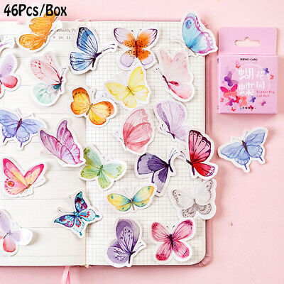 DIY Craft Paper Sticker Lovely Adhesive Butterfly Stickers Scrapbooking