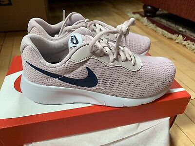 708a76bd98 Nike Tanjun Size 5 Youth Girls Shoes Barely Rose Navy White New In Box