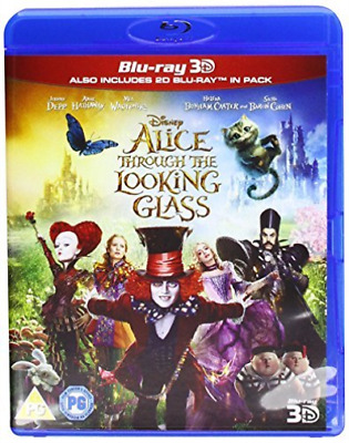 Alice Through The Looking Glass 3D BLU-RAY NUEVO