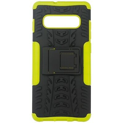 For Samsung Galaxy S10 Plus Armor Shockproof Heavy Duty Stand Case Cover Lime