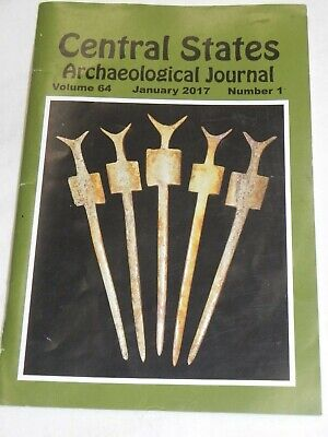 2017 Central States Archaeological Journal Book Vol 64 No 1 Only! Missing 2-4