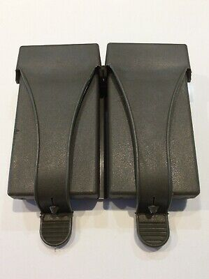 Vintage German NATO Military rubber Dual Magazine Ammo Belt Pouch ARMY