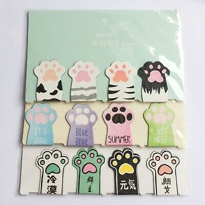 4Pcs/Set Cute Cat Paw Magnetic Bookmarks Books Marker Of Page Stationery School