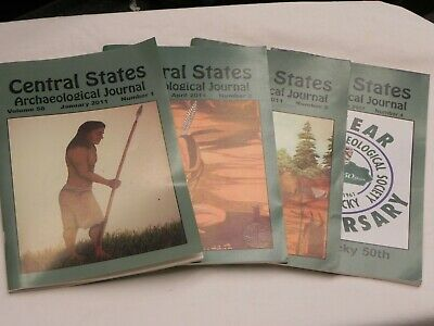 2011 Central States Archaeological Journal Book Complete Set of 4 Vol 58 No 1-4