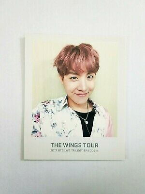 "K-POP BTS Concert ""THE WINGS TOUR"" Official J-Hope Photocard"