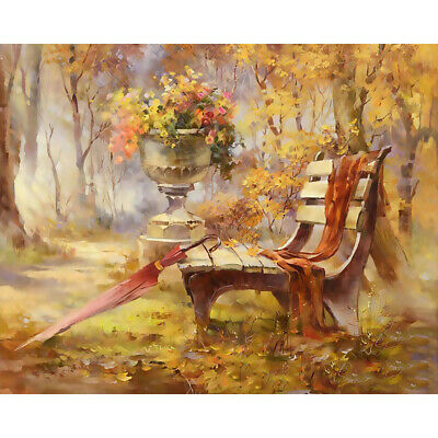 Linen Cotton DIY Digital Hand Oil Painting Kit Paint by Numbers on Canvas Decor