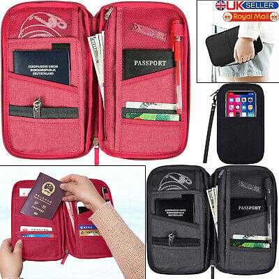 Travel Wallet Passport Holder RFID Organiser Pouch for Cards Documents IDS Money