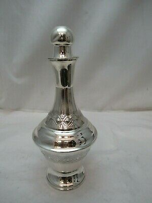 Sterling Silver 925 Liquor Schnapps Wine Bottle Used 164 grams