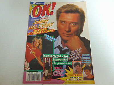 • OK ! Âge tendre N°702 1989 Johnny Hallyday Samantha Fox Philippe Swam •