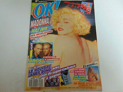 • OK ! Âge tendre N°709 1989 Madona Bros poster James Bond Avalanche •
