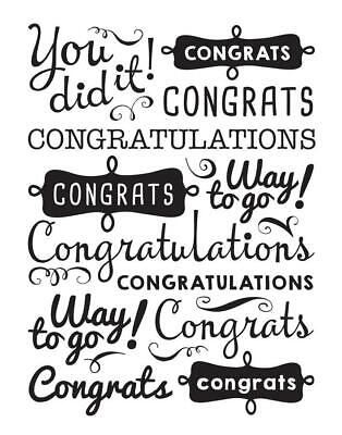CONGRATS You Did It 4.25 x 5.75 Darice Embossing Folder Graduation 30041359