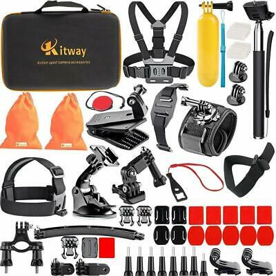 Kitway 65-in-1 Action Camera Accessories Kit for Akaso EK7000, DJI Osmo Pocket