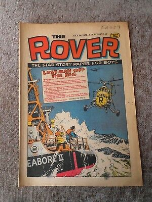 Rare Comic The Rover 1st July 1972