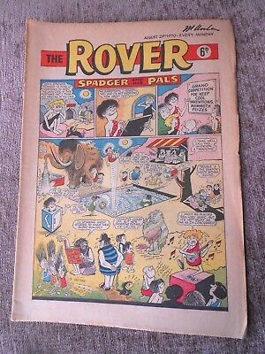 Rare Comic The Rover 29th August 1970