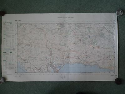 """Ordnance Survey Map 2.5"""" SY68/78 Weymouth N 1969 Dorchester S. Maiden Castle"""