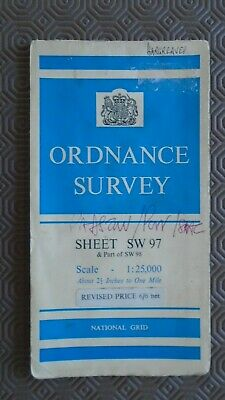 "Ordnance Survey 2.5"" Map SW97/8 Padstow 1964 Wadebridge Port Isaac St Issey"