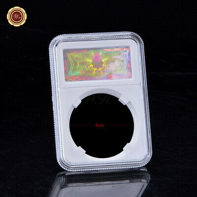 WR Clear Acrylic 40mm Graded Coin Slab Holder Display Storage Case Protector Box