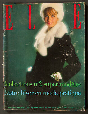 'Elle' French Vintage Magazine Collections Issue 6 September 1963